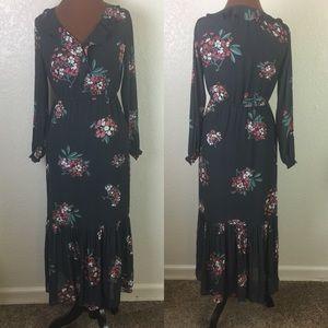 [Ann Taylor Loft] Long Sleeve cinched waist dress